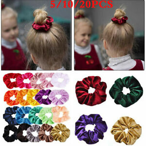 Womens-Velvet-Hair-Scrunchie-Elastic-Hair-Rings-Bands-Ponytail-Rope-Wholesale-yu