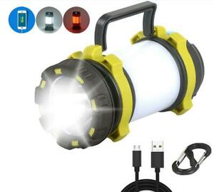 LED-Camping-Light-USB-Rechargeable-Flashlight-Waterproof-survival-hiking-Outdoor