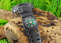 2CM WATCH STRAP BUTTON COMPASS FIT UP TO 22MM STRAPS PARACORD BUSHCRAFT SURVIVAL