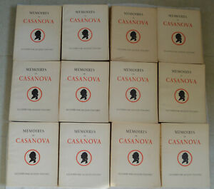 Mémoires de Casanova Illustré d'aquarelles originales Jacques Touchet 12 tomes
