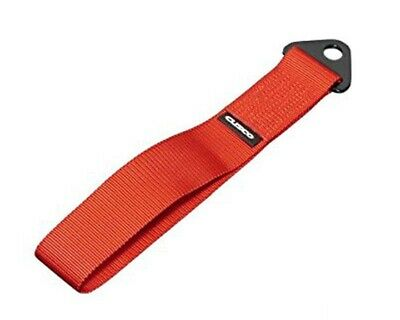Cusco Universal Fabric Tow Strap Hook Red Made in Japan 00B-CTS-RD Genuine