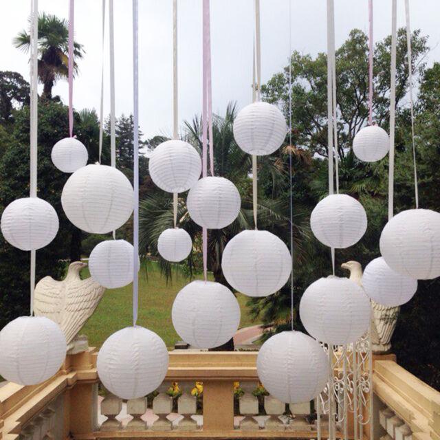 "10pc White Chinese Paper Lanterns  Party Decorations 10"" Wedding Decor"