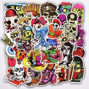 50pcs-lot-Sticker-SKULL-Decal-Vinyl-Roll-Car-Skate-Skateboard-Laptop-Luggage
