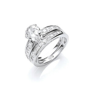 Bridal Set Solitaire Engagement Ring Wedding Ring Eternity Ring Sterling Silver - Warwickshire, United Kingdom - Bridal Set Solitaire Engagement Ring Wedding Ring Eternity Ring Sterling Silver - Warwickshire, United Kingdom
