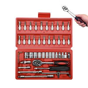 46pcs-Spanner-Socket-Screwdriver-1-4-Car-Repair-Tool-Ratchet-Wrench-Set-Tool-Kit