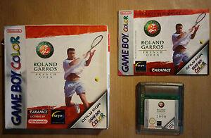 ROLAND-GARROS-FRENCH-OPEN-pour-Nintendo-Gameboy-Color-Tennis