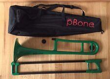 Jiggs pBone Plastic Trombone Green with Carry Case