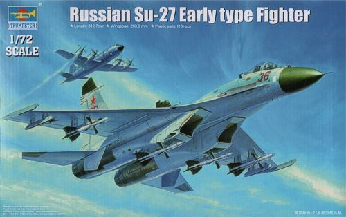 Trumpeter Trumpeter Trumpeter 1 72 Sukhoi Su-27 Early Type Fighter 234637