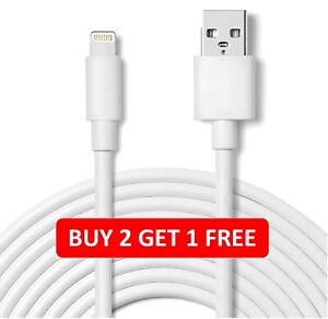 USB-Lightning-Charger-amp-Data-Sync-Cable-Lead-For-Apple-iPhone-6-7-8-X-XR-11-Pro