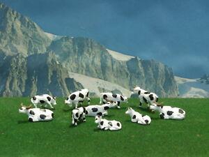 Animali-mucche-per-modellismo-pezzi-10-scala-1-87-H0-Krea