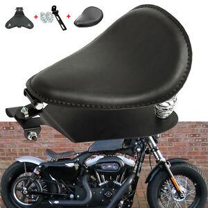 Pour-Harley-Sportster-Noir-Ressorts-de-siege-selle-solo-personnalise-Hachoir