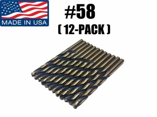 12-PACK Number #58 88250 Norseman Viking USA Drill Bit Super Premium Jobber