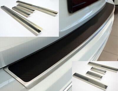 HYUNDAI i10 SparSet Einstiegsleisten Ladekantenschutz 3D Carbonfolie Schwarz
