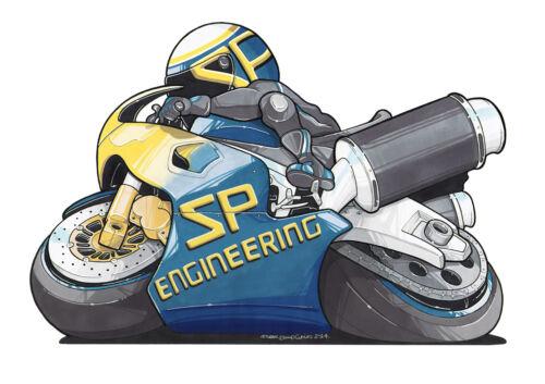 Yamaha YZF-R6 Exhaust 03-05 SP Engineering Carbon Fibre Round Stubby Moto GP