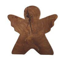 jan kurtz angel l large 35cm teak massiv holz schutzengel für innen & außen