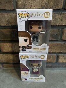 Funko POP! Harry Potter HERMIONE GRANGER Figure #113 & #115 Albus Dumbledore New