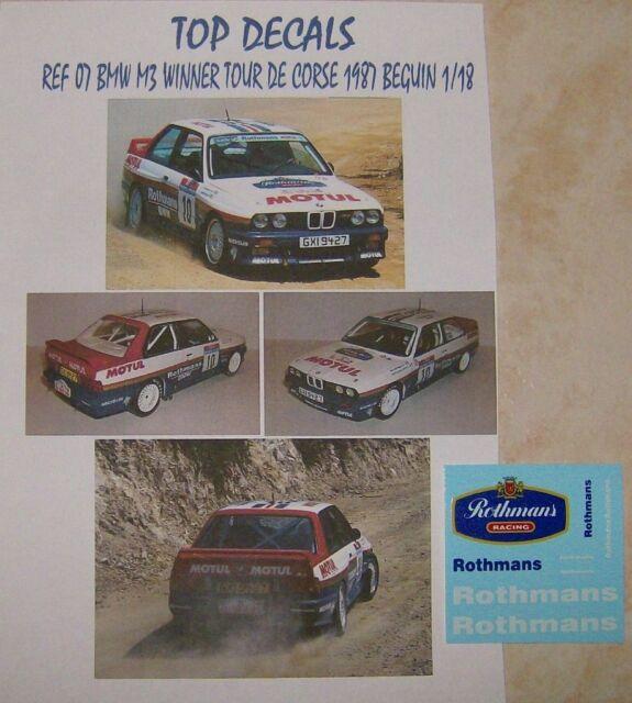 ADDITIF 1//18 BMW M1 TOUR DE CORSE 1982 BERNARD DARNICHE TOP DECALS