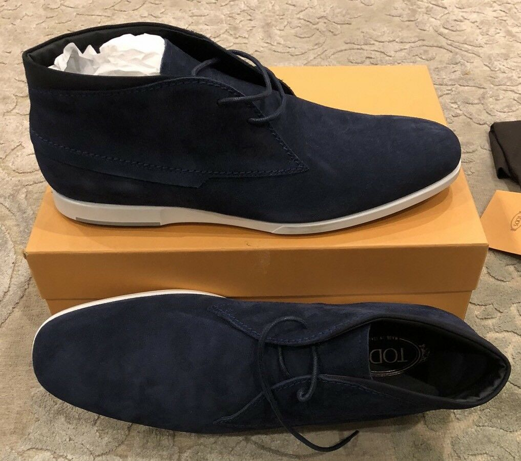 625 New Tods Mens Polloca Gomma Mens shoes Navy bluee Boots Size 12.5 US 11.5 UK