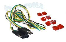 """48"""" Trailer Light Wire  4 Way Wire Flat Connector Trailer Light Extension"""