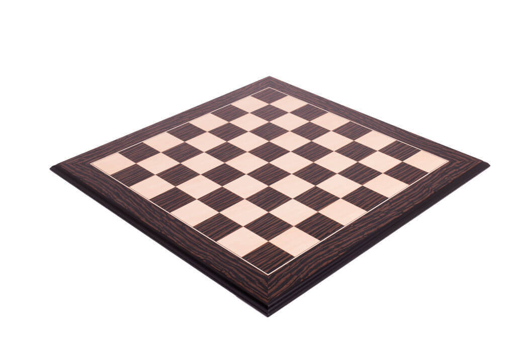 Tiger Ebony & Maple Standard Traditional Chess Board - 2.25