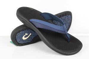 Olukai Women's Ohana Flip Flop Sandals Size 8 Blueberry/Black