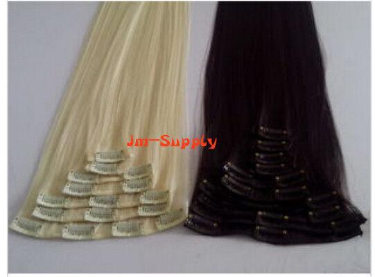 "100% Remy Echthaar Haartresse Clips in Extension  XXL18"" 50 cm Haarverlängerung"