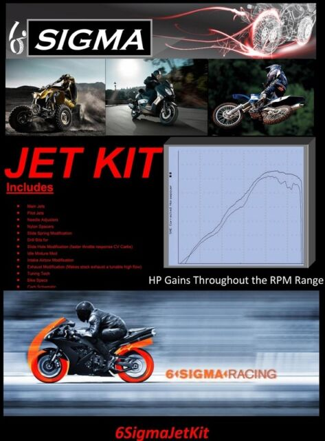 JL50QT 6 50 cc Scooter Moped 6 Sigma Custom Carburetor Carb Stage 1-7 Jet Kit