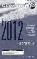Sea-doo 150 Speedster 2012 Owners Manual Paperback Free Shipping