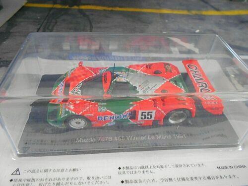 MAZDA 787 B 787B 24h Le Mans Winner 1991 #55 Weidler DC Hachette SP Spark 1:43
