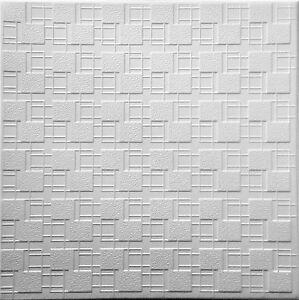 Styrofoam Ceiling Tile to cover popcorn ceiling decor 48 Glue Up tiles ~130 sqft