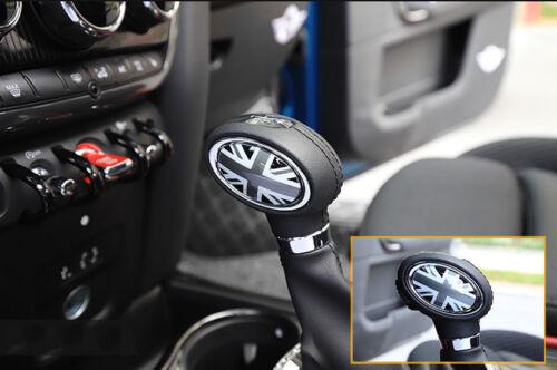 For MINI Cooper F55 F56 F57 F60 Gray Union Jack Car Interior Gear Lever Cover