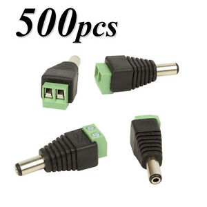 500Pcs-2-1x5-5mm-DC-Male-Power-Jack-Connectors-Plug-Adapter-for-CCTV-Security