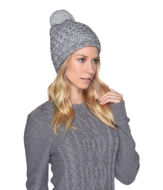 UGG Women s Yarn Pom Knit Hat Winter Apparel 17488 Light Grey One ... ba89489b6b