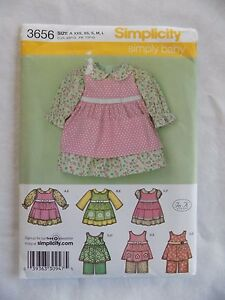 Simplicity-Simply-Baby-3656-Babies-Dress-Pinafore-Pants-Size-A-New-Uncut-Pattern