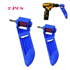 2X Portable Drill Bit Sharpener Corundum Grinding Wheel Tool Grinder Polishing
