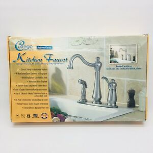 corrego kitchen faucet brushed nickel spray one handle brand new rh ebay com  corrego kitchen faucet f87b4500nc