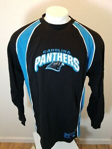 buy popular c5da0 5c03e Details about Carolina Panthers VTG Mens Long Sleeve Shirt, Black Blue,XL,  Retro