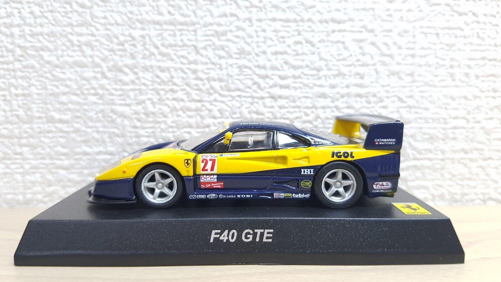 1  64 Kyosho FERRARI F40 GTE RACE tärningskast bilmodelllllerl NY