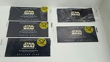 5 stars wars episode 1 collectable phonecards joblot /collection 4 still sealed