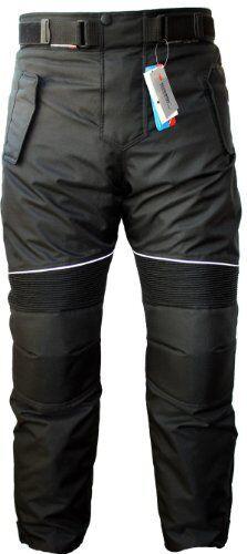 German Wear - Pantaloni da Uomo per Moto Cordura, Nero, 54 EU (c2f)