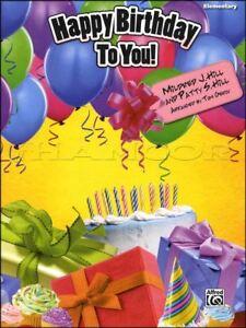 Happy Birthday To You Elementary Piano Sheet Music Ebay