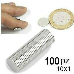 Charitable 100 Calamite Magneti Neodimio 10 X 1 Mm Per Fimo Fai Da Te Potenti Calamita Texture Nette