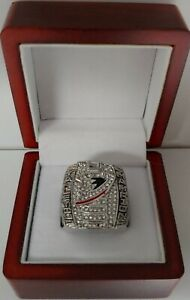 Scott Niedermayer - 2007 Anaheim Ducks Stanley Cup Hockey Ring WITH Wooden Box