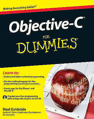 1 of 1 - Objective-C For Dummies by Neal Goldstein (Paperback, 2009)