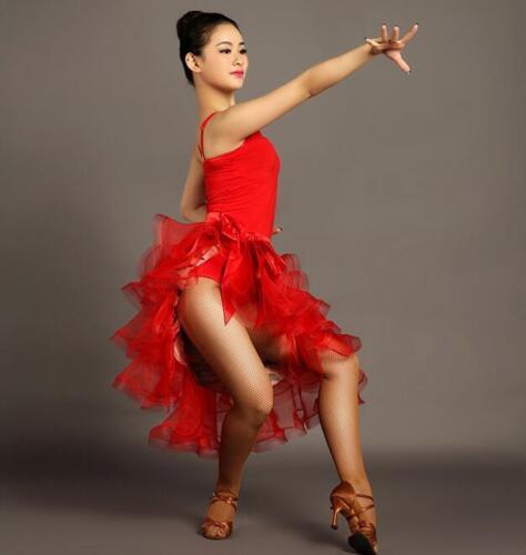Womens Latin salsa Tango Ballroom Dance Skirt Rumba Cha cha Samba dress Chic New