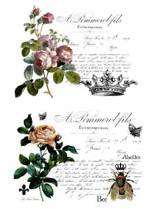 Image Is Loading Vintage Image French Flower Labels Furniture  Transfers Waterslide