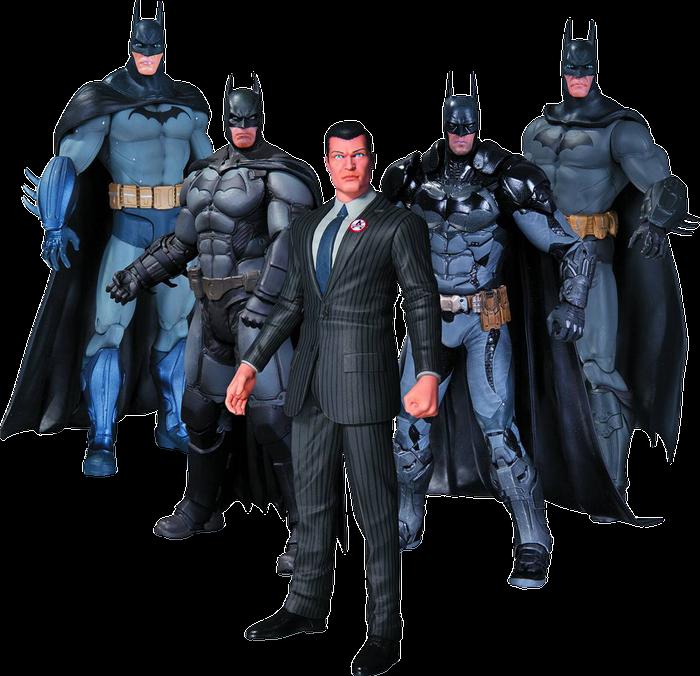 5 -7  Figures--Batman - Arkham Series Batman Action Figures 5-Pack