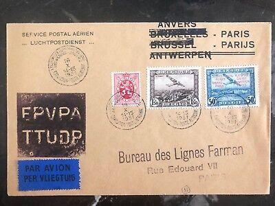 Belgien Rational 1931 Antwerpen Belgien Erstflug Luftpost Fehler Abdeckung Ffc Zu Paris Kaufe Eins Bekomme Eins Gratis Briefmarken