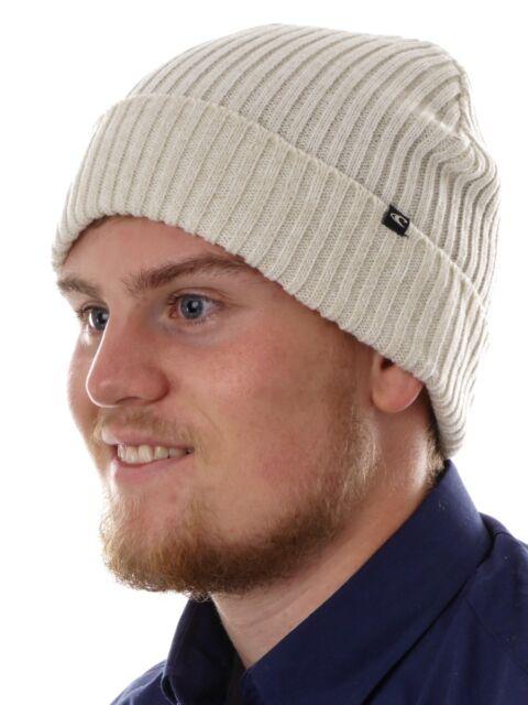 O'Neill Beanie Bonnet d'hiver tricoté blanc Everyday Patch tricotage