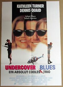 Undercover-Blues-Kathleen-Turner-Dennis-Quaid-A1-Filmposter-Poster-x-215